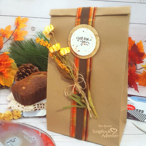 Decorative Gift Bag For National Date Nut Bread Day by Terri Burson for Scrapbook Adhesives by 3L