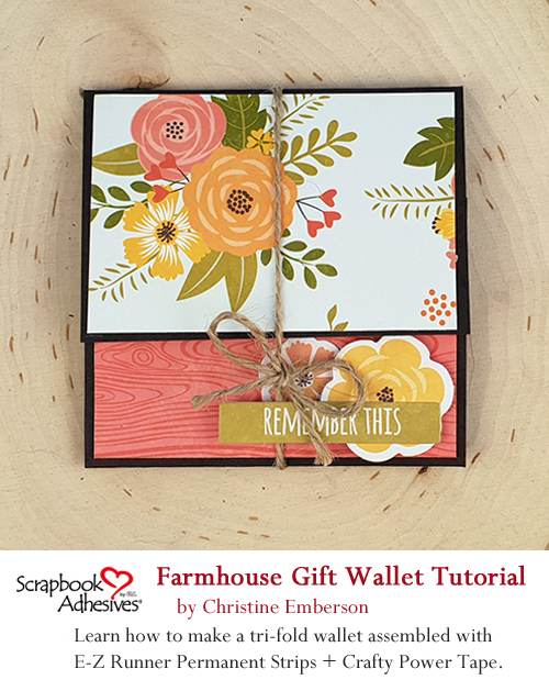 Pinterest Farmhouse Gift Wallet by Christine Emberson for Scrapbook Adhesives by 3L
