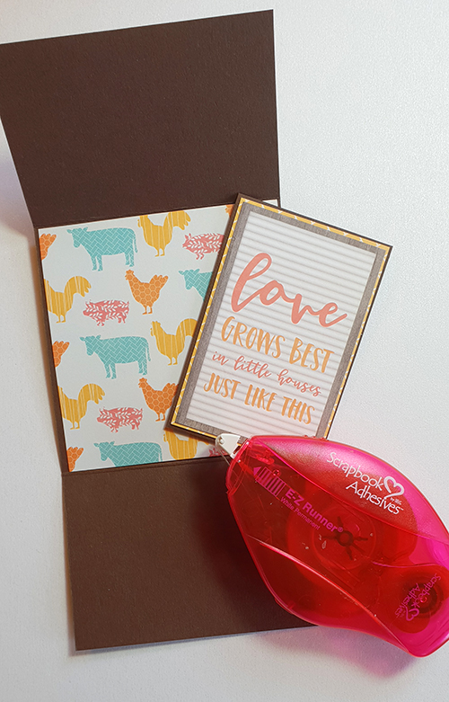 Farmhouse Gift Wallet by Christine Emberson for Scrapbook Adhesives by 3L