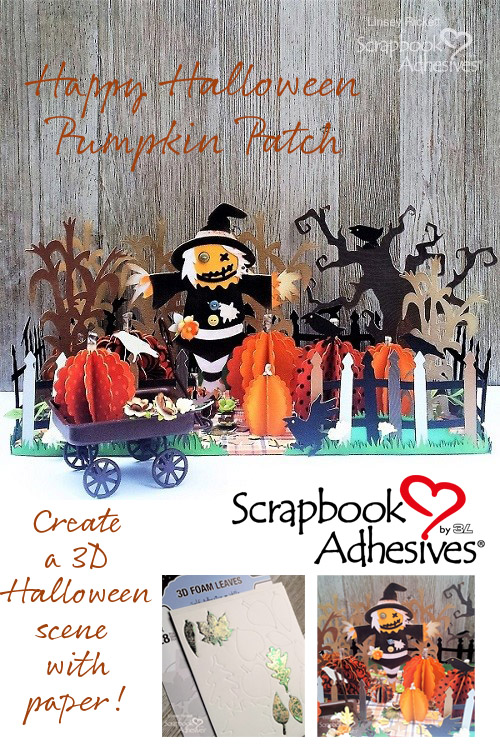 Halloween Pumpkin Patch Scene by Linsey Rickett for Scrapbook Adhesives by 3L