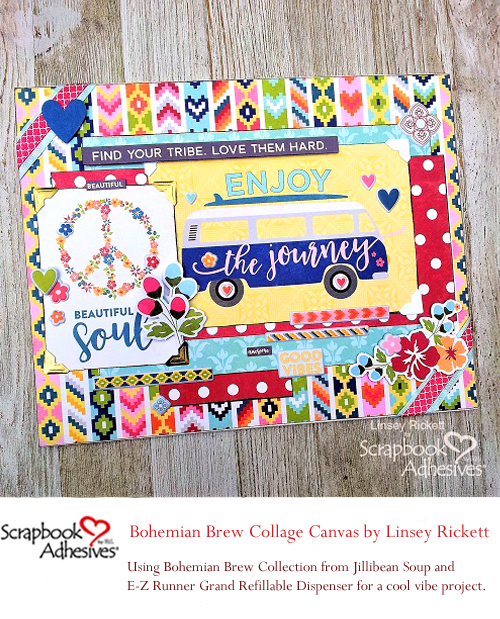 Pinterest Creative Bohemian Vibe and Jillibean Soup by Linsey Rickett for Scrapbook Adhesives by 3L