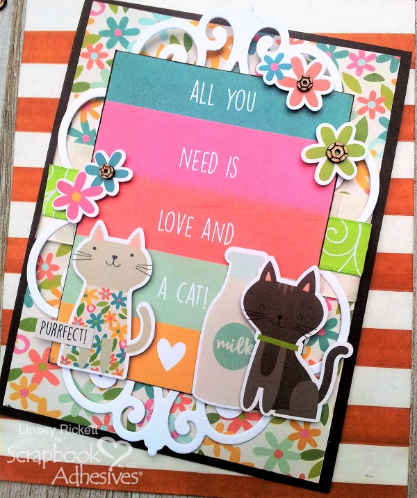 Furry Friends Card Duo, Quick and Easy by Linsey Rickett for Scrapbook Adhesives by 3L