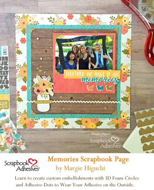 Pinterest Memories Scrapbook Page by Margie Higuchi for Scrapbook Adhesives by 3L