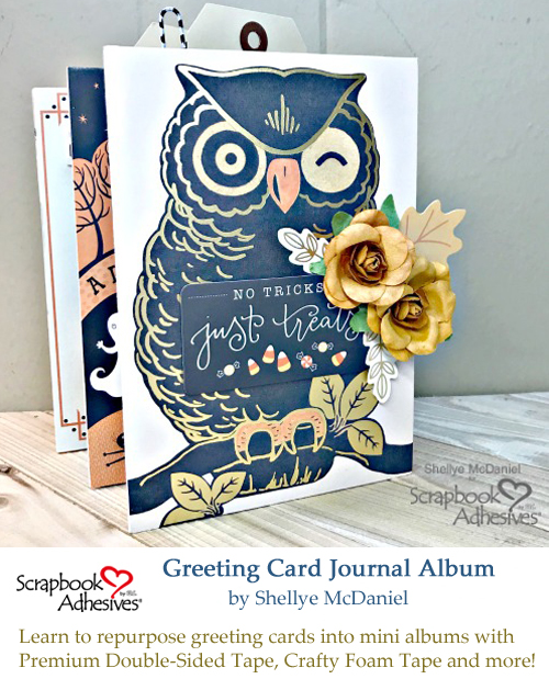 Pinterest Greeting Card Journal Album by Shellye McDaniel for Scrapbook Adhesives by 3L