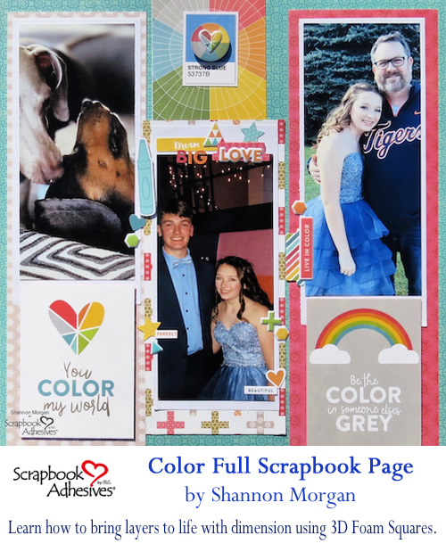 Pinterest Color Full Week with Jillibean Soup Color Full Scrapbook Page by Shannon Morgan for Scrapbook Adhesives by 3L