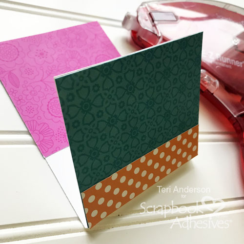 Colorful Gift Card Pockets Tutorial by Teri Anderson for Scrapbook Adhesives by 3L