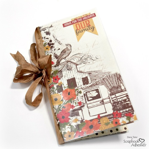 Thanksgiving Traveler's Notebook created with the Authentique Pleasant Collection by Dana Tatar for Scrapbook Adhesives by 3L