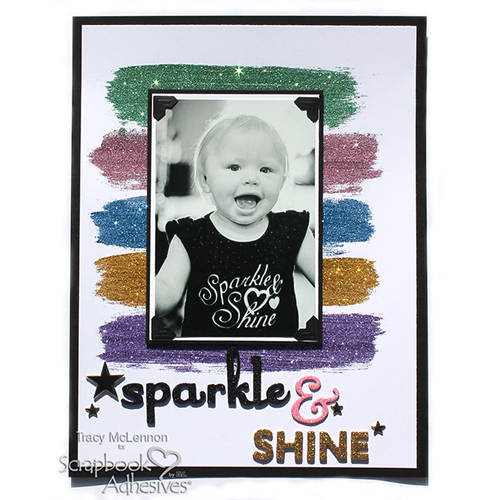 Sparkle & Shine with the Dual Tip Glue Pen by Tracy McLennon for Scrapbook Adhesives by 3L