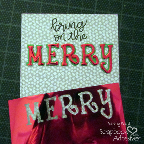 Merry Flip and Slide Card by Valerie Ward for Scrapbook Adhesives by 3L