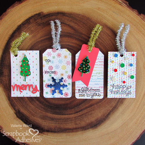 Shiny Holiday Tags by Valerie Ward for Scrapbook Adhesives by 3L