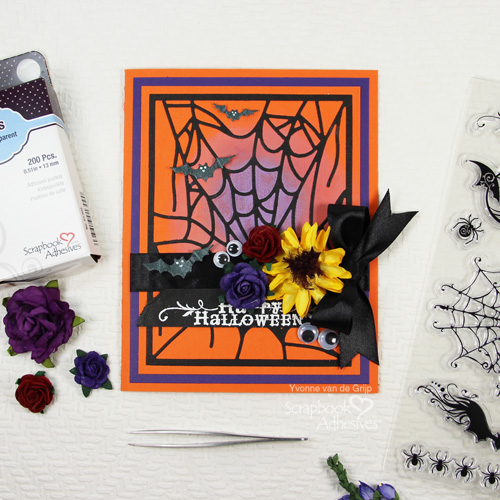 Spooky Halloween Card with Adhesive Sheets by Yvonne van de Grijp for Scrapbook Adhesives by 3L