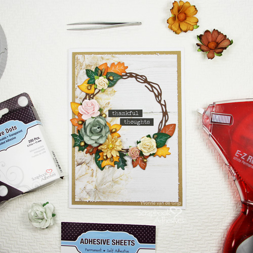 Fall Inspired Thanksgiving Card by Yvonne van de Grijp for Scrapbook Adhesives by 3L