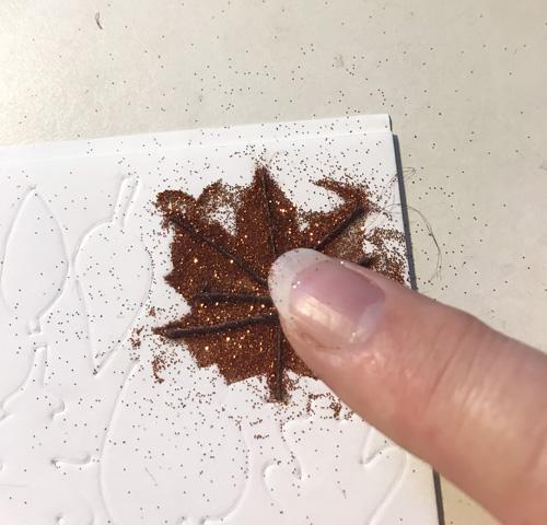 3D Foam Leaves Thanksgiving Card by Yvonne van de Grijp for Scrapbook Adhesives by 3L