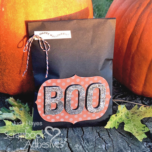 BOO Treat Bag with 3D Foam Creative Sheets by Judy Hayes for Scrapbook Adhesives by 3L