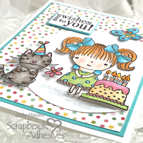 Sweet Wishes Birthday Card with 3D Foam Squares by Judy Hayes for Scrapbook Adhesives by 3L