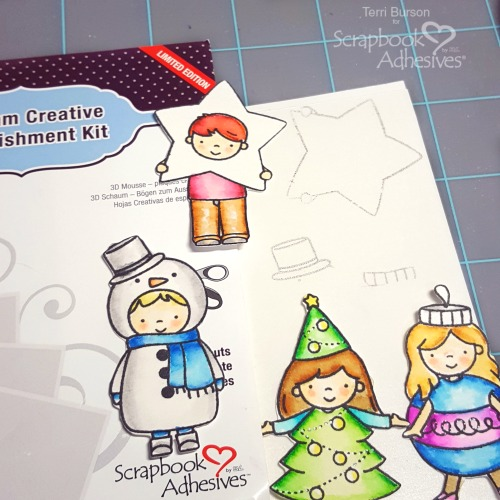 Create Partial Foiled 3D Embellishments by Terri Burson for Scrapbook Adhesives by 3L