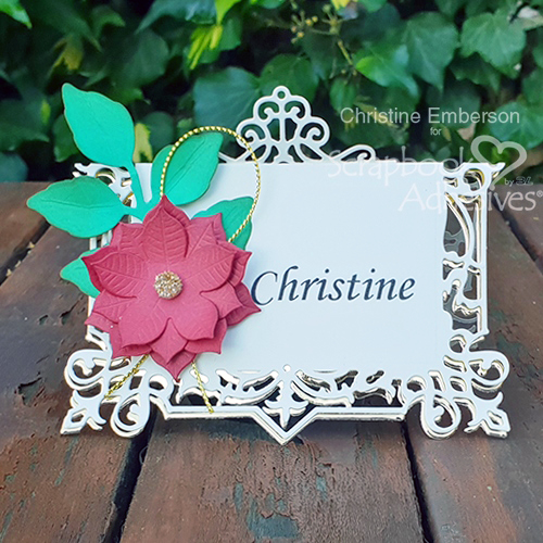 Holiday Place Card Tutorial by Christine Emberson for Scrapbook Adhesives by 3L