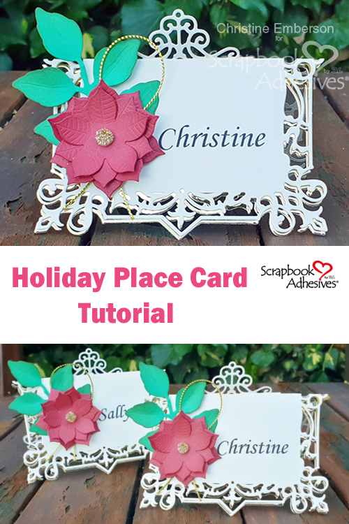 Pinterest Holiday Place Card Tutorial by Christine Emberson for Scrapbook Adhesives by 3L