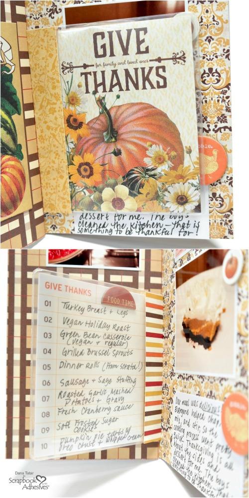 Give Thanks Menu 2-Sided Keepsake Envelope Flip Page for Travelers Notebook