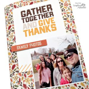 Completed DIY Thanksgiving Traveler's Notebook created by Dana Tatar for Scrapbook Adhesives by 3L