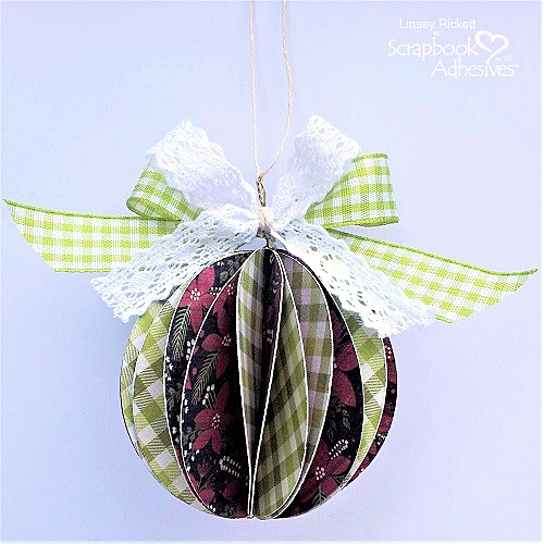 DIY Christmas Ornaments with Adhesive Dots by Linsey Rickett for Scrapbook Adhesives by 3L