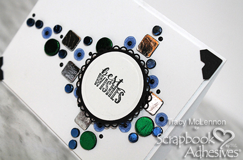 Mosaic Card Using 3D Foam Squares and Circles by Tracy McLennon for Scrapbook Adhesives by 3L