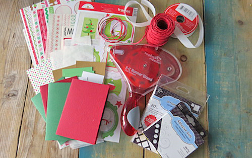 Merry and Bright Christmas Card Set by Shannon Morgan for Scrapbook Adhesives by 3L