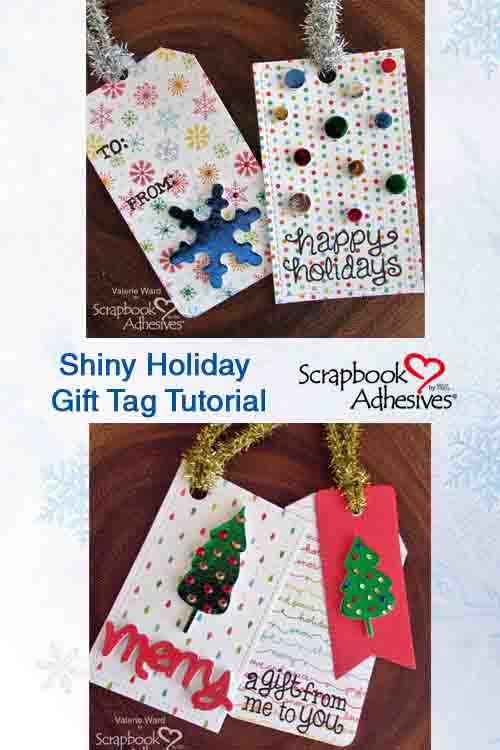 Pinterest Shiny Holiday Tags by Valerie Ward for Scrapbook Adhesives by 3L