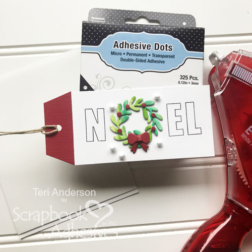 Christmas Wreath Card and Gift Tag Set by Teri Anderson for Scrapbook Adhesives by 3L