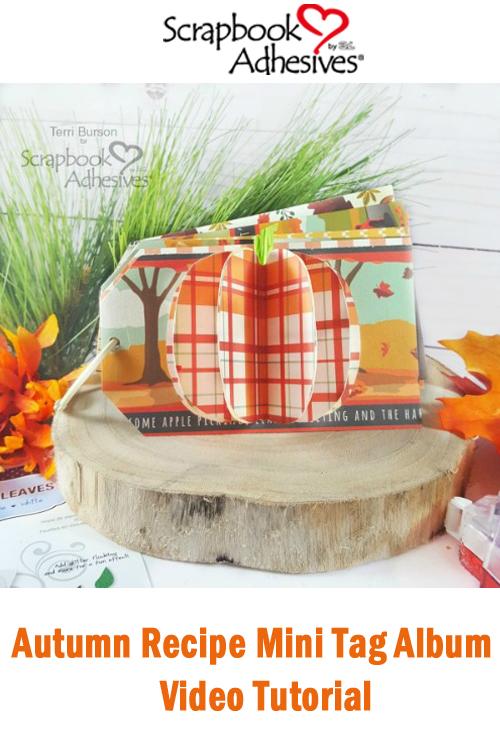 Autumn Recipe Mini Tag Album by Terri Burson for Scrapbook Adhesives by 3L Pinterest