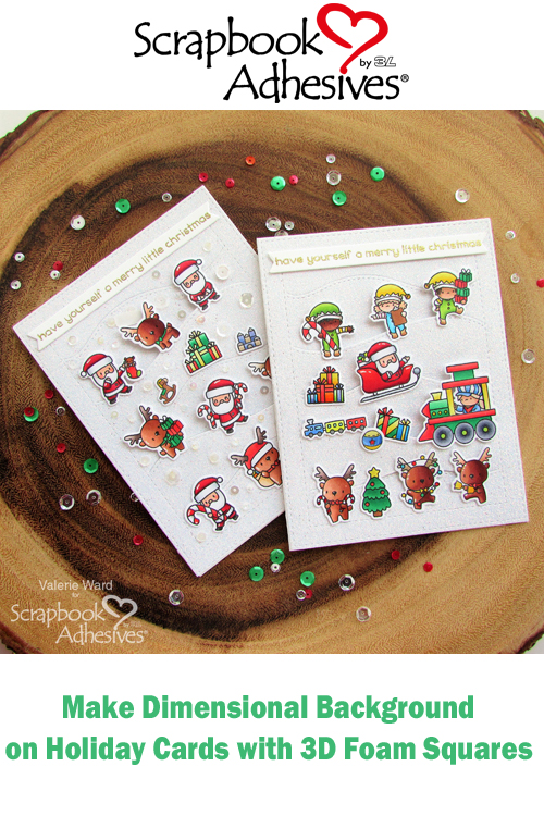 Pinterest Dimensional Hillside Christmas Cards by Valerie Ward for Scrapbook Adhesives by 3L