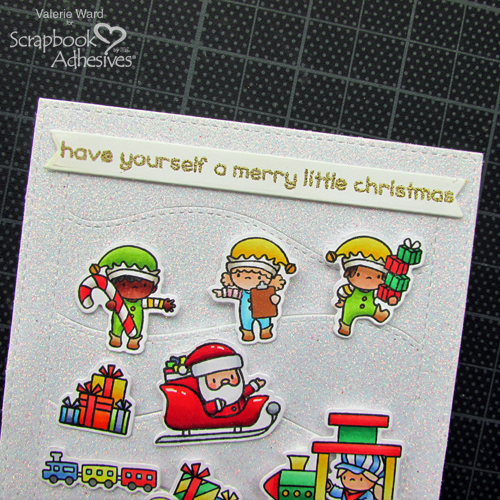 Dimensional Hillside Christmas Cards by Valerie Ward for Scrapbook Adhesives by 3L