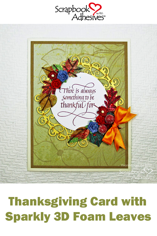 Pinterest 3D Foam Leaves Thanksgiving Card by Yvonne van de Grijp for Scrapbook Adhesives by 3L