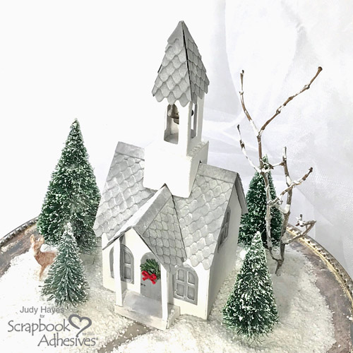 Little White Church Holiday Decor by Judy Hayes for Scrapbook Adhesives by 3L