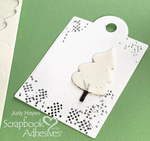 Sparkly Christmas Tags with 3D Foam Holiday Embellishment Kit by Judy Hayes for Scrapbook Adhesives by 3L