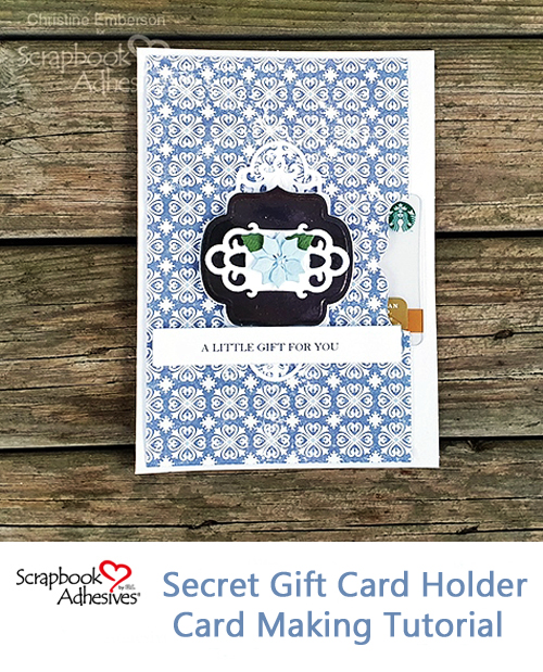 It's a Gift Card ... Card! by Christine Emberson for Scrapbook Adhesives by 3L Pinterest