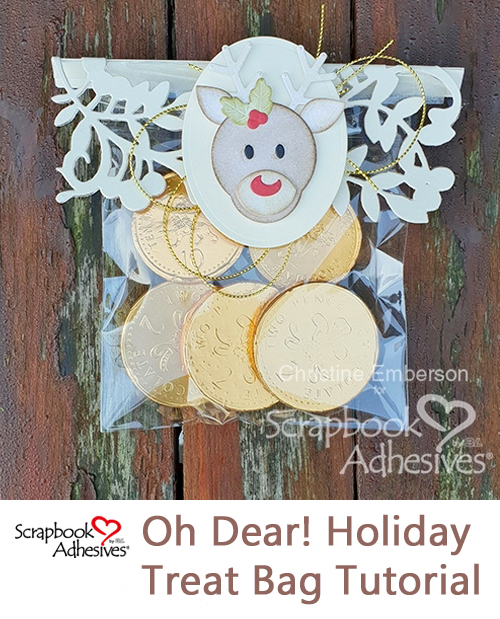 Holiday Treat Bag Tutorial by Christine Emberson for Scrapbook Adhesives by 3L Pinterest