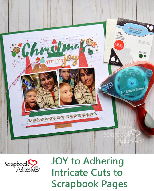Christmas Joy Made Easier by Christine Meyer for Scrapbook Adhesives by 3L Pinterest