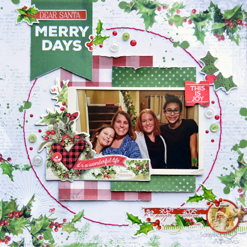 My Favorite Adhesives on a Christmas Page by Christine Meyer for Scrapbook Adhesives by 3L