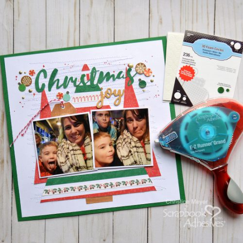 Christmas Joy Made Easier by Christine Meyer for Scrapbook Adhesives by 3L