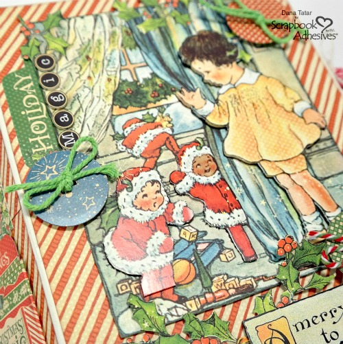 December Daily Holiday Album by Dana Tatar for Scrapbook Adhesives by 3L Christmas Inspiration Week with Graphic 45