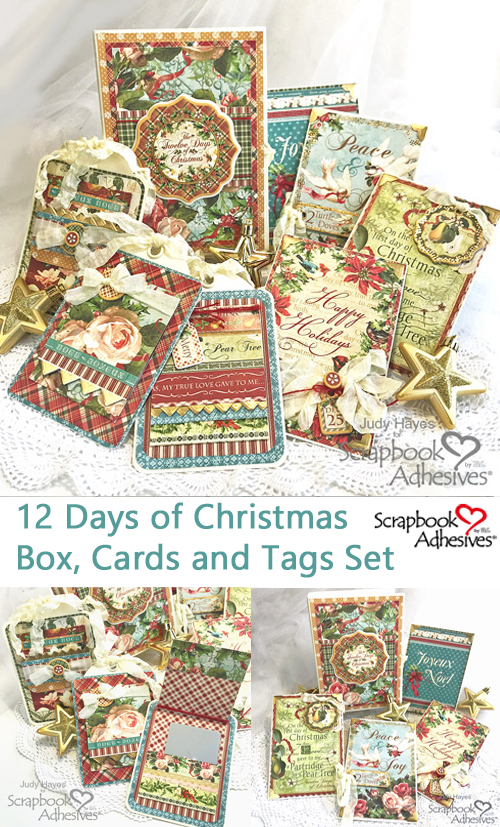 12 Days of Christmas Box, Cards and Tags by Judy Hayes for Scrapbook Adhesives by 3L Christmas Inspiration Wk w Graphic 45 Pinterest
