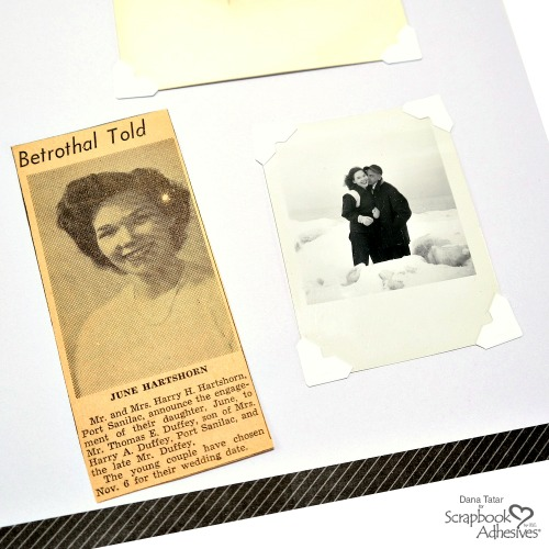 Heritage Scrapbooking with Creative Photo Corners by Dana Tatar for Scrapbook Adhesives by 3L