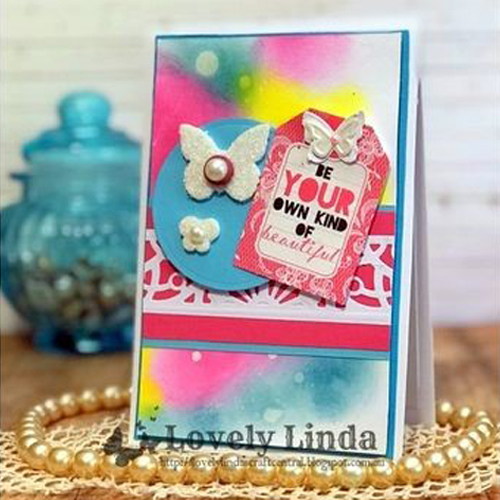 Your Own Kind of Beautiful Card in the Making by Linda Lucas for Scrapbook Adhesives by 3L
