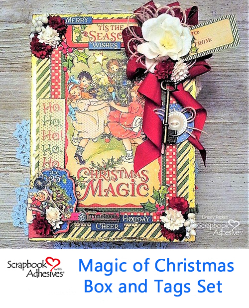 The Magic of Christmas Box and Tags by Linsey Rickett for Scrapbook Adhesives by 3L Christmas Inspiration Wk w Graphic 45 Pinterest