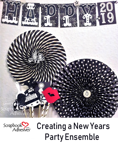 New Years Party Ensemble by Linsey Rickett for Scrapbook Adhesives by 3L Pinterest