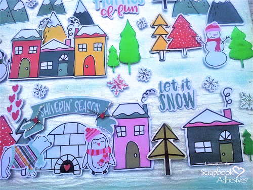 Foiled Trees in a Winter Wonderland by Linsey Rickett for Scrapbook Adhesives by 3L