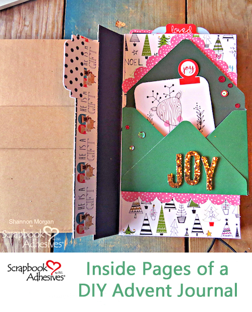 My DIY Advent Journal Part 2 by Shannon Morgan for Scrapbook Adhesives by 3L Pinterest