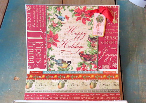 Handmade Holiday Card Box by Shannon Morgan for Scrapbook Adhesives by 3L Christmas Inspiration Week with Graphic 45
