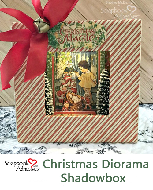 Christmas Diorama Shadowbox by Shellye McDaniel for Scrapbook Adhesives by 3L Christmas Inspiration Week with Graphic 45 Pinterest